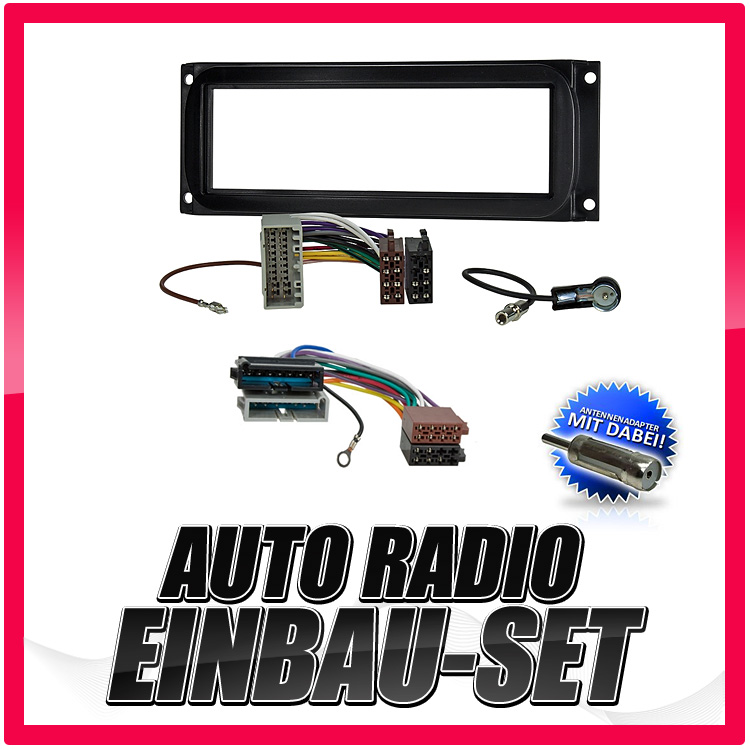 Auto-Radio-Einbau-Blende-Rahmen-Adapter-fuer-JEEP-Grand-Cherokee