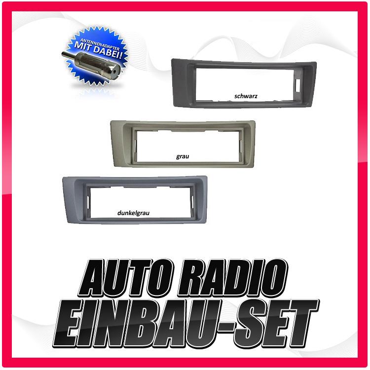 Auto-Radio-Einbau-Blende-Rahmen-Adapter-fuer-RENAULT-Megane-Scenic-bis-12-2003