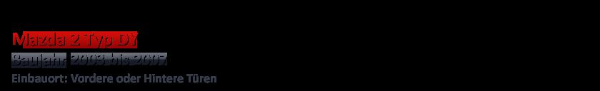 2003-2007 PIONEER 13cm Front//Heck Lautsprecher Kompo für MAZDA 2 DY