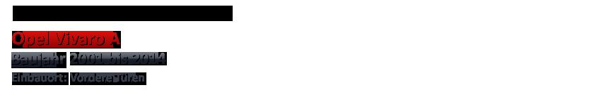 2001-2014 HERTZ Front Auto Lautsprecher Kompo für OPEL Vivaro A