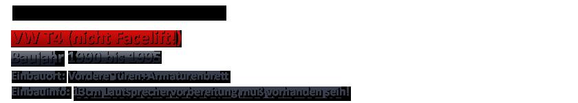 Crunch para VW t4-1990-1995 13cm Front auto altavoces componentes