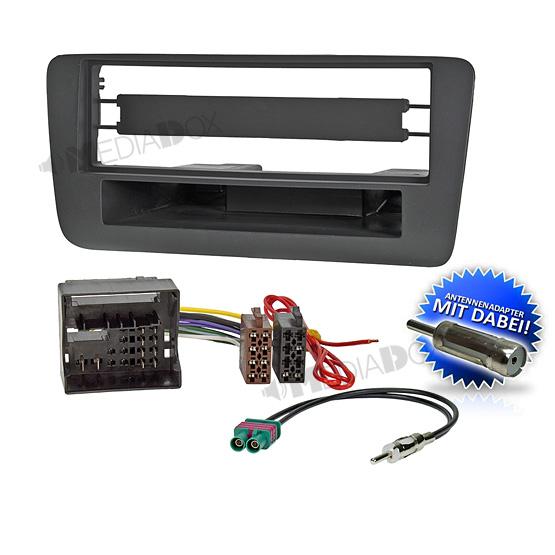auto radio einbau blende rahmen adapter f r audi a1 ab 2010. Black Bedroom Furniture Sets. Home Design Ideas