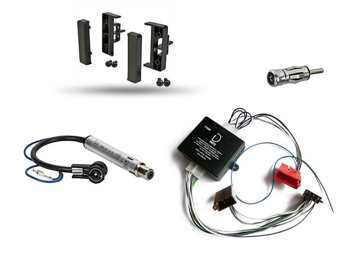 auto radio einbau blende rahmen adapter f r audi a6 c5 4b. Black Bedroom Furniture Sets. Home Design Ideas