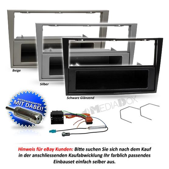 auto radioblende einbauset rahmen kabel f r opel corsa d. Black Bedroom Furniture Sets. Home Design Ideas