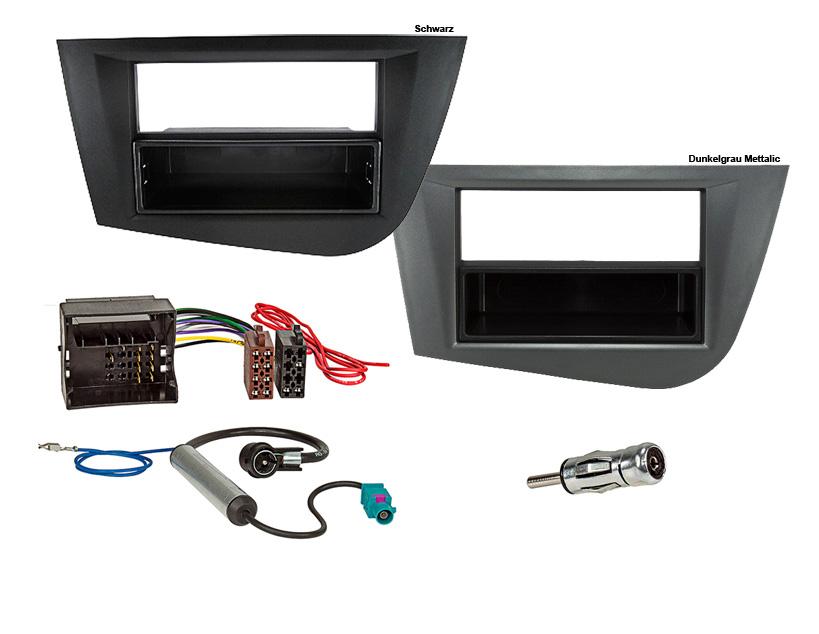 auto radioblende einbauset rahmen kabel f r seat leon 1p. Black Bedroom Furniture Sets. Home Design Ideas