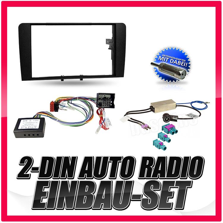 2 din auto radio einbau blende rahmen adapter f r audi a3. Black Bedroom Furniture Sets. Home Design Ideas