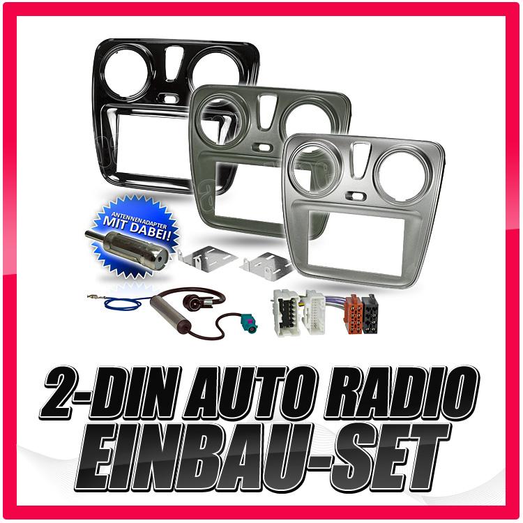 2-DIN Auto Radio//Autoradio Rahmen für DACIA Lodgy//Dokker Van ab 2012