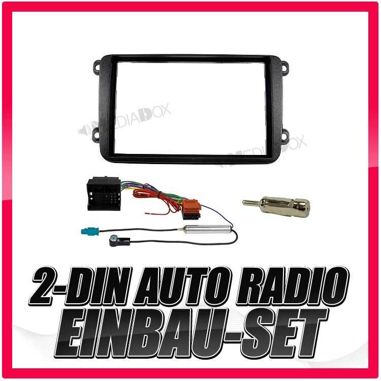 Auto 1-DIN Einbau Blende//Rahmen+Adapter für VW T5//T6 /& Sharan 2
