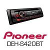 PIONEER DEH-S420BT Autoradio-Set für SEAT Ibiza 6J - 2008-02/2012