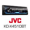 JVC KD-X451DBT Autoradio-Set für FORD Kuga 1 - 2008-2012 (Eckig)