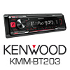 KENWOOD Autoradio KMM-BT203 - USB/MP3/AUX/iPhone - PRO102 (KMM-BT203)