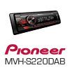 PIONEER MVH-S220DAB Radio-Set + Unterbaukonsole für LKW/Truck/Bus/24 Volt/24