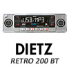 DIETZ Retro 200 BT Classic/Oltimer Autoradio USB/SD/CD/MP3/BLUETOOTH - Silber