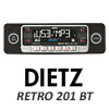 DIETZ Retro 201 BT Classic/Oltimer Autoradio USB/SD/CD/MP3/BLUETOOTH - Schwarz
