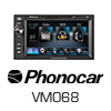 PHONOCAR 2-DIN Navigationssystem/Multimedia USB Autoradio (VM068E) PRO105