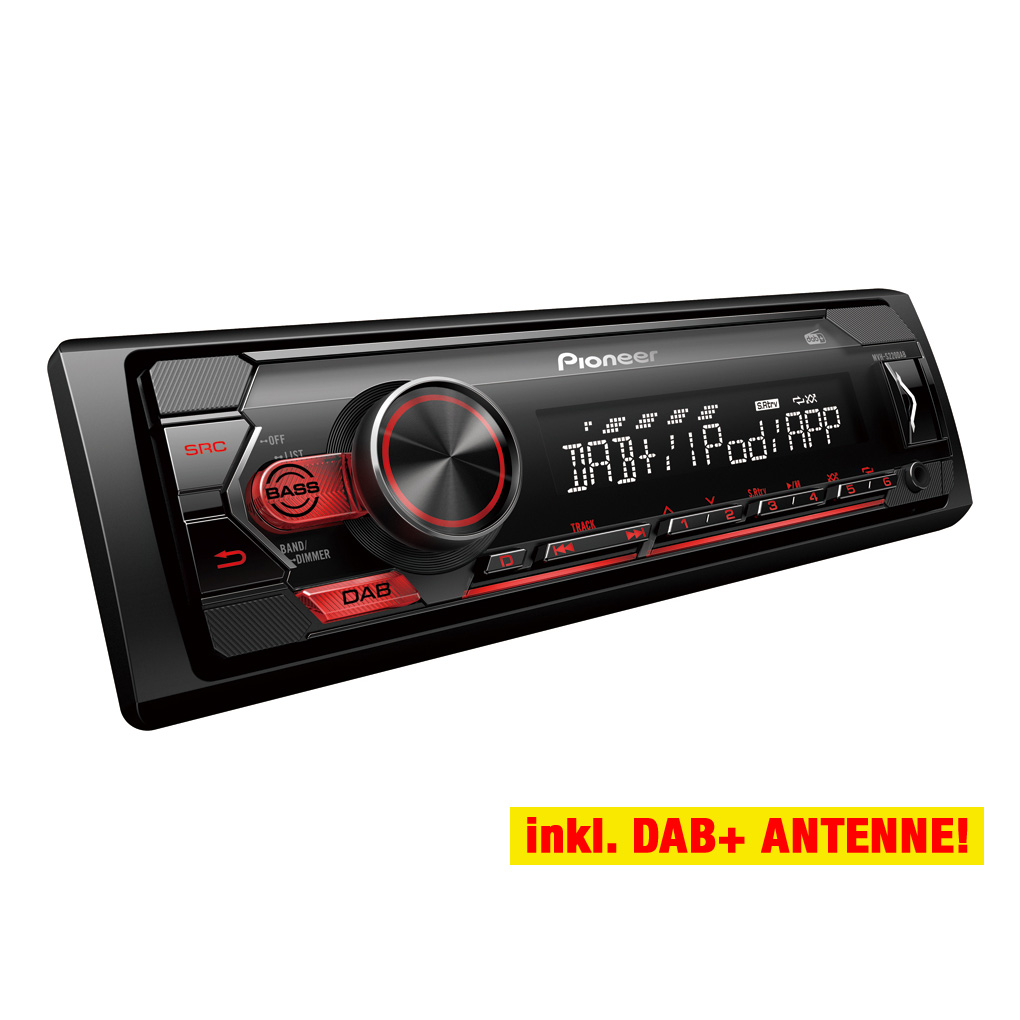 JVC DAB //USB//aux autoradio//radio-set para peugeot 206-1998-2012