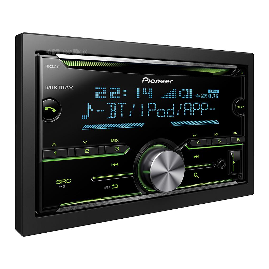 pioneer fh x730bt 2 din autoradio cd usb aux fh x730bt pro105. Black Bedroom Furniture Sets. Home Design Ideas