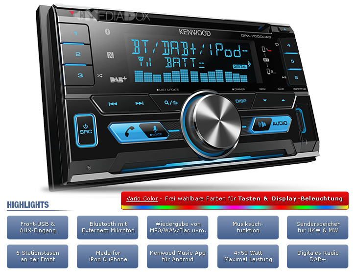 kenwood 2 din dab usb cd autoradio radio set f r nissan. Black Bedroom Furniture Sets. Home Design Ideas