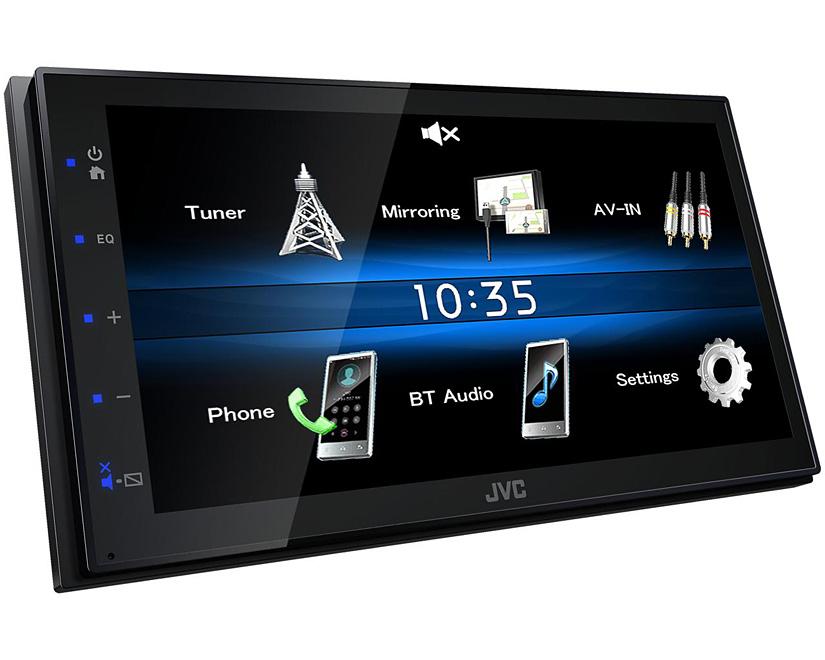 169 JVC 2-din CD//Bluetooth Auto radioset PER FIAT PANDA 2003-2012